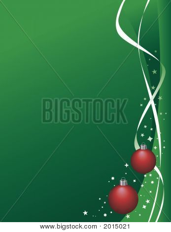Christmas Green Ribbon