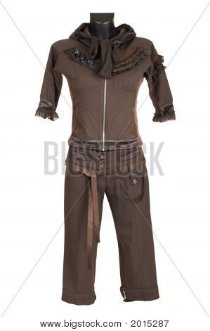 Female Brown Suit