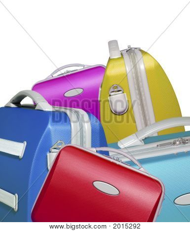 Selection Of Bright Colored Briefcases