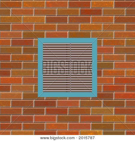 Brick Wall With Square Vent