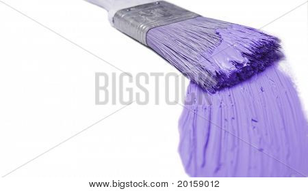 paintbrush with violet purple (see series)