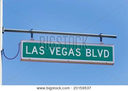las vegas blvd  (strip) street sign (main street of Vegas)