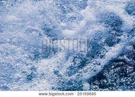 frothy water