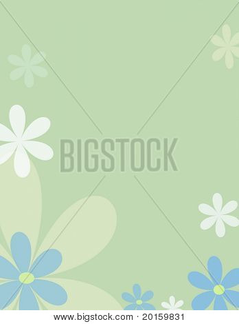 Modern Flower  background  cool mint