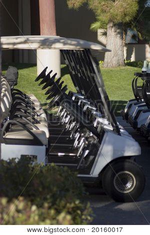 Golfwagen geraden