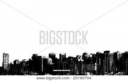 horizon of a cityscape