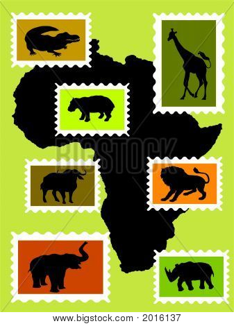 African Animals.Eps