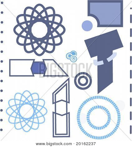 elements and shapes for your design (see series)vector