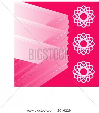abstract shapes series vector fuchsia with graphic