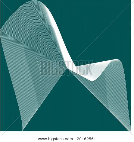 abstract netting over teal green vector