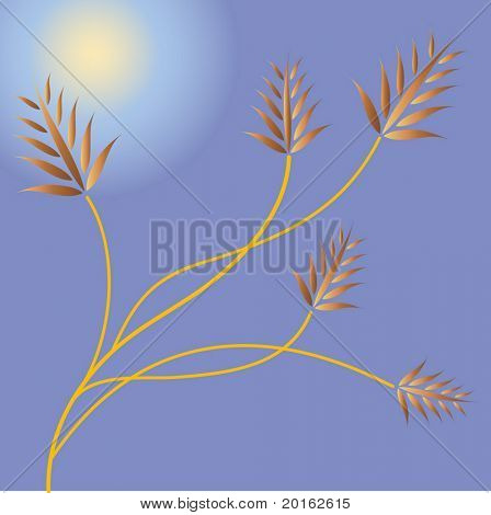 fauna and moonlight  vector