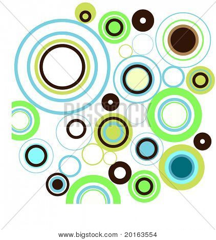 funky circles bubbles modern colors