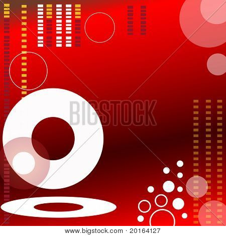 funky red and brown background with circles and squares two
