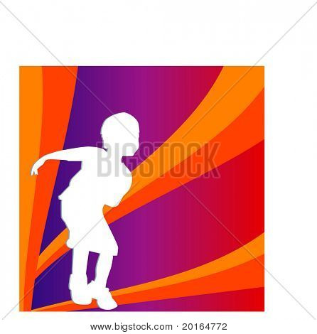 boy playing illustration