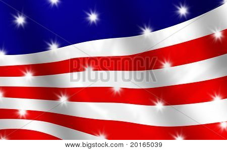 Abstract Version Of The Stars And Stripes Flag