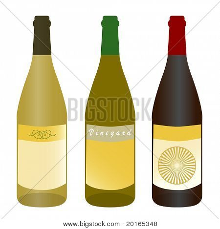 wine bottles (text:Brush Script MT Italic)