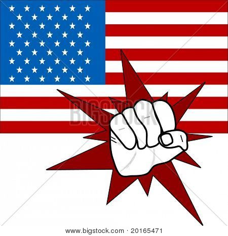 American Flag with fist