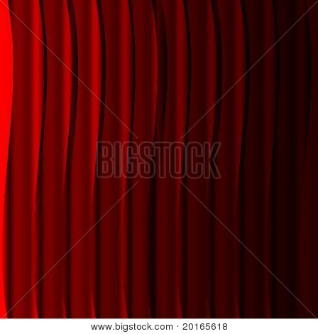 Curtain call barras individuales sobre fondo rojo