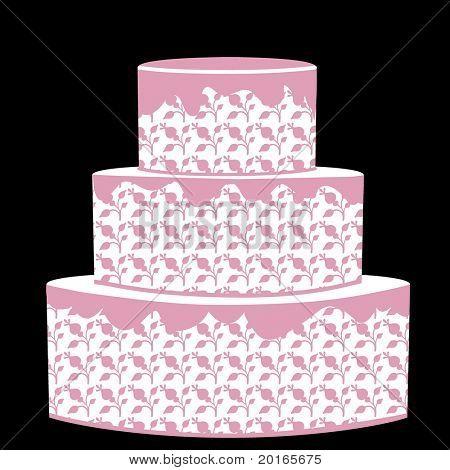 drei gestufte Kuchen für jeden Anlaß