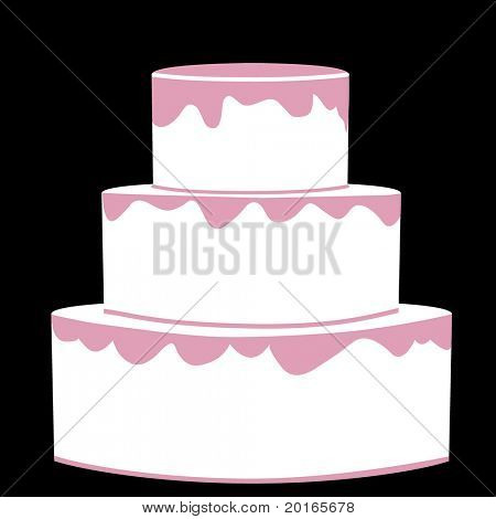 isolated three tiered cake any occasion