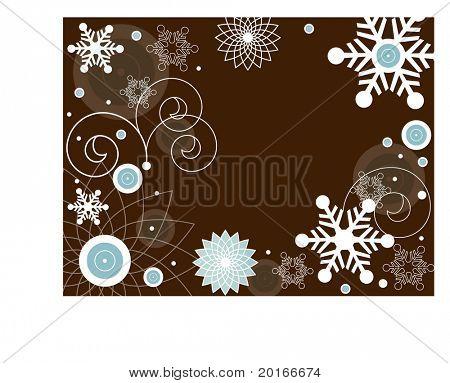 funky snowflake frame