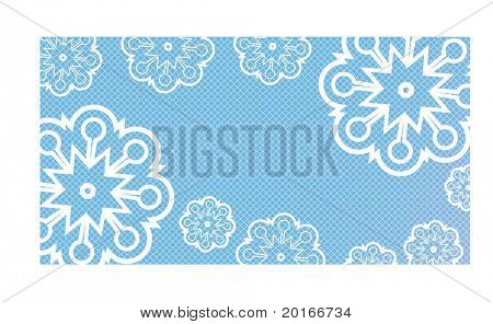 snowflake flower with pattern behind