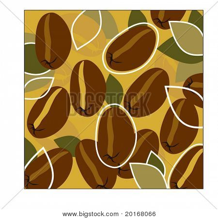 coffee beans and leaves
