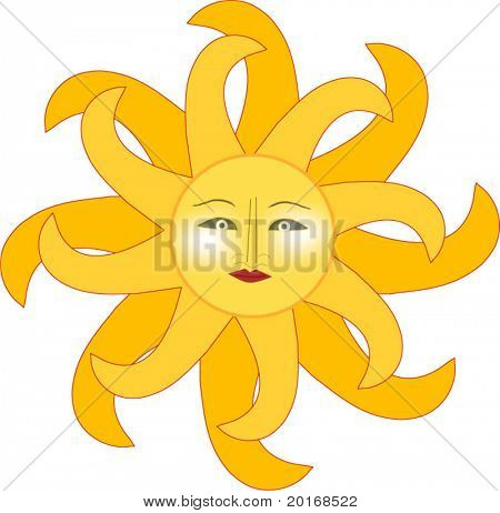 sun isolated illustration