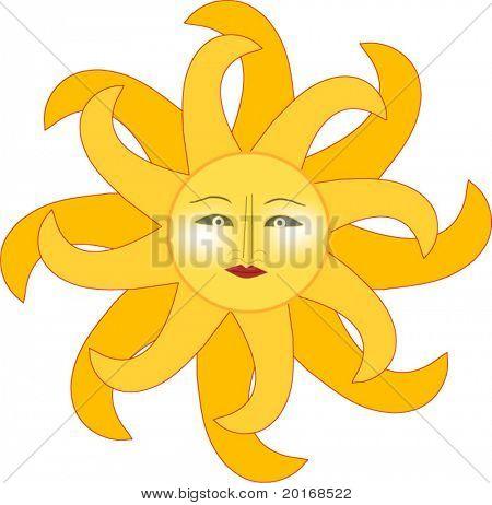 sun isolated illustration