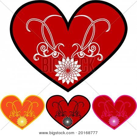 decorative hearts 4 choices