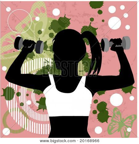 fitness over grunge background
