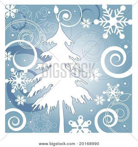 série de ilustração de fundo do inverno