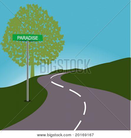 Roadsign PARADISE
