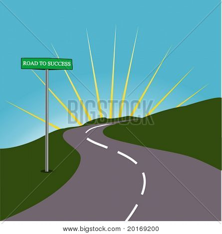 Roadsign ROAD TO SUCCESS