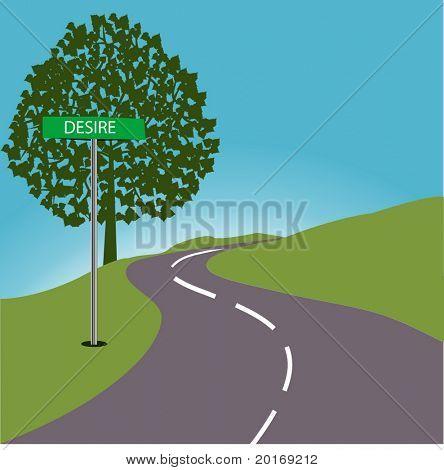 Roadsign DESIRE