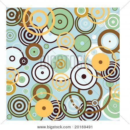 funky circles springtime vector