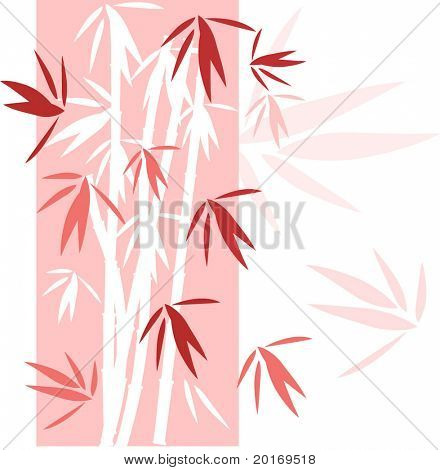 bamboo background pretty pinks and red vector