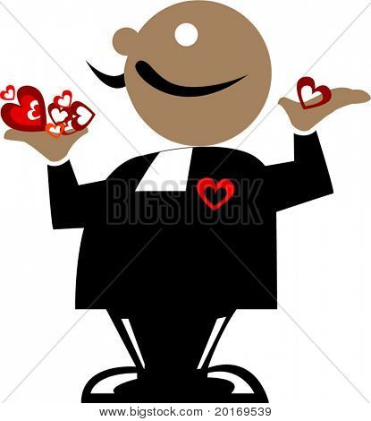 male suitor cartoon vector