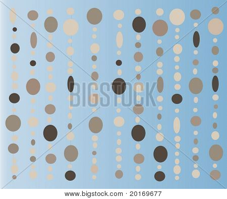 capiz shells retro curtain vector