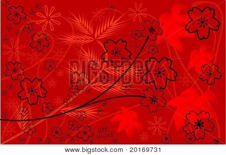 passionate flower background vector