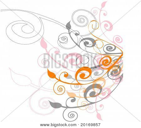 trendy background vector