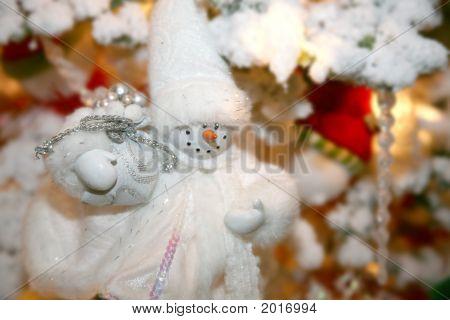 weiße handmade Schneemann