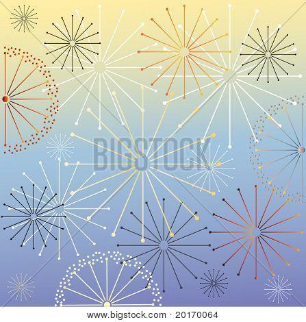 geometric celebration background