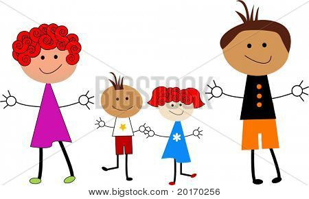 Cartoon-Familie