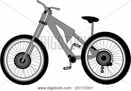 isolated bike vector