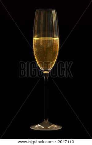 Champagne On Black