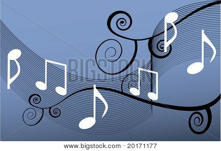 musical notes  with background vector