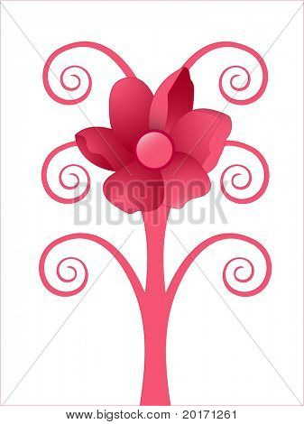 quirky rose tree vector