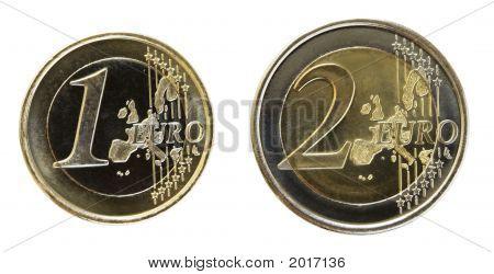 Euro On White