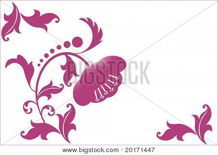 flower and filigree stylized vector